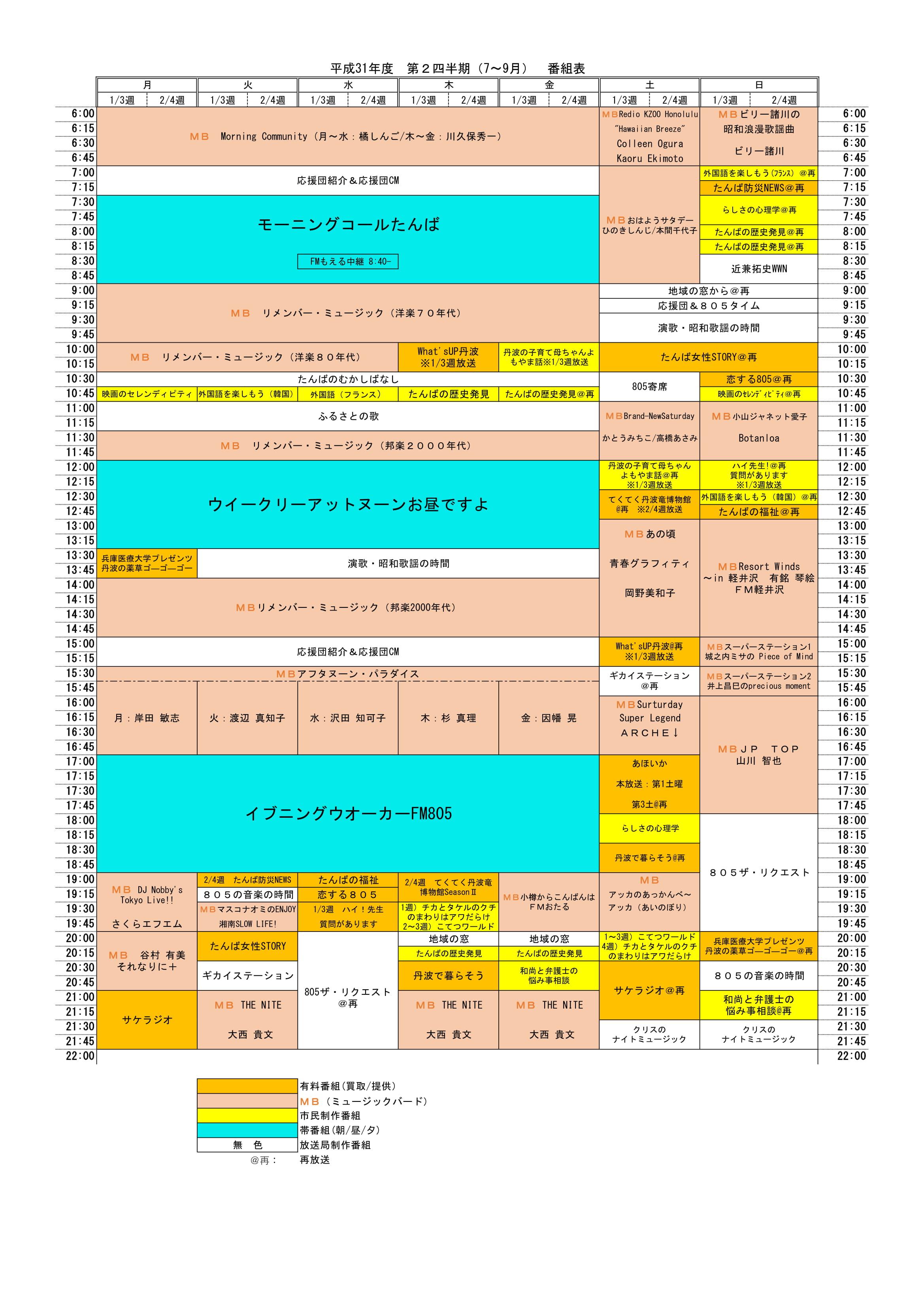 Nhk 番組 表 fm